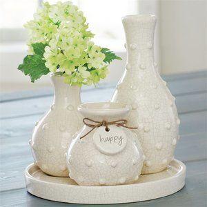 Beaded Multi-Bud Vase Tray
